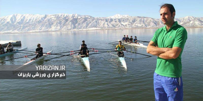 طاهر کبوتری مربی مهابادی تیم ملی قایقرانی
