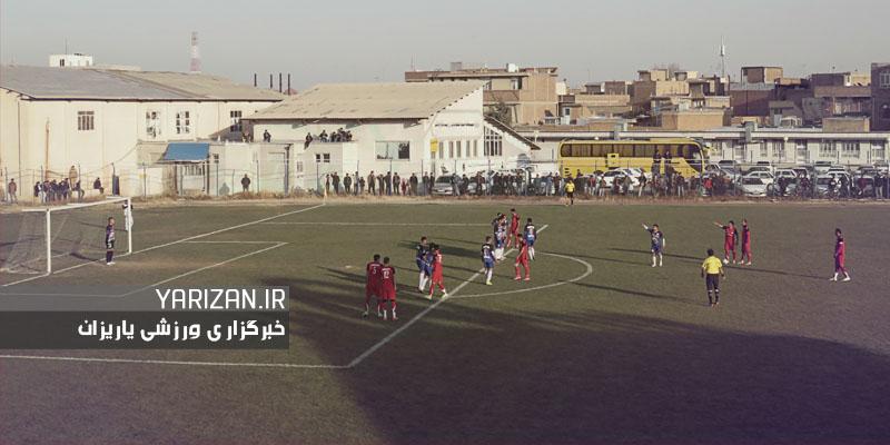دیدار دو تیم کاویان نقده و عقاب تبریز در لیگ دسته سوم فوتبال  ...