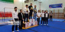 مسابقات قهرمانی ترامپولین رده نونهالان و نوجوانان استان آذربایجان غربی با قهرمانی تیم مهاباد پایان یافت.
