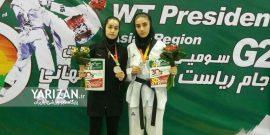 رقابت های بین المللی تکواندو جام ریاست فدراسیون جهانی که به میزبانی کیش برگزار شد بادرخشش دختران کردستانی همراه بود.