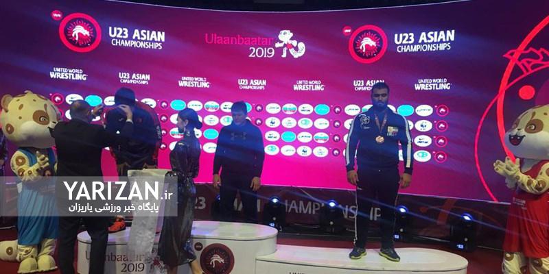 امیرمحمد یزدانی و نوید زنگنه به مدال نقره و محمد مرادی به مدال برنز اوزان 65، 74 و 125 کیلوگرم رقابت های کشتی آزاد زیر 23 سال آسیا رسیدند.