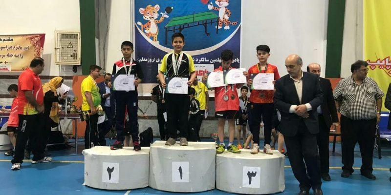 فربد فاتح نونهال کردستانی در رقابت های تنیس روی قهرمانی هوپس کشور که به میزبانی ساری برگزار شد توانست نشان برنز این مسابقات را بدست آورد.