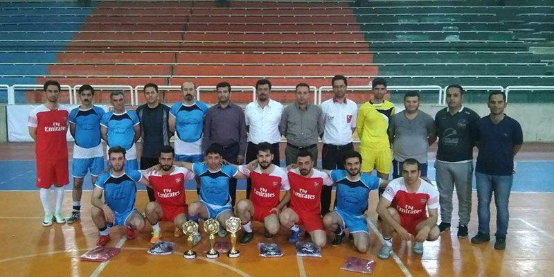 """اولین دوره مسابقات فوتسال با عنوان """"جام رسانه"""" در شهرستان مهاباد به کار خود پایان داد."""
