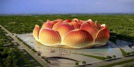 تیم فوتبال گوانژو اورگارد چین کار ساخت یکی از بزرگترین ورزشگاه های فوتبال جهان را موسوم به « گل های نیلوفر آبی » آغاز کرد.