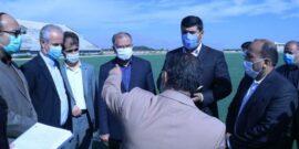 با حضور سعید جغتایی رئیس امور پایش، ارزیابی و مدیریت اطلاعات سازمان برنامه و بودجه کشور، روند تکمیل استادیوم ۵۰۰۰ نفری فوتبال شهرستان خوی مورد بررسی قرار گرفت.